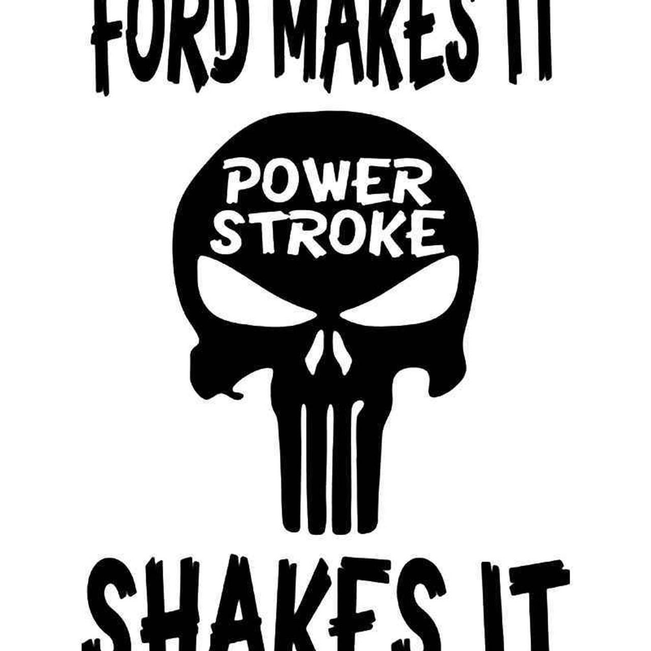 Download Duramax Ford Vinyl Sticker