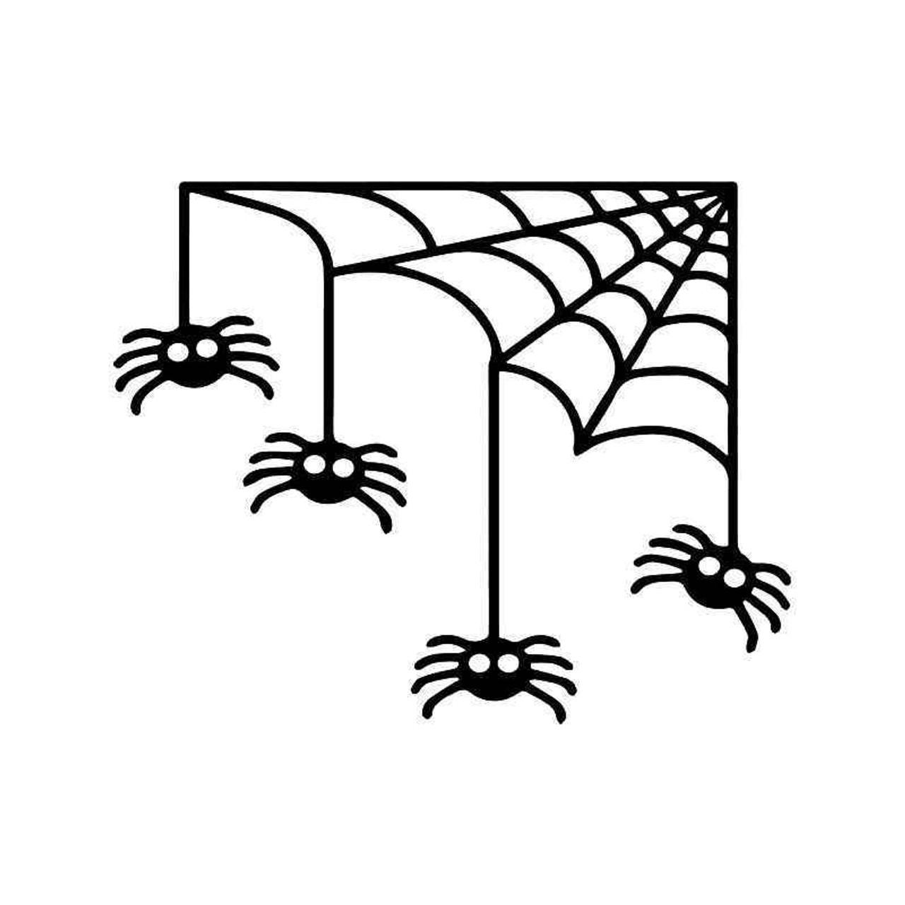 Halloween Spider Web Vinyl Sticker