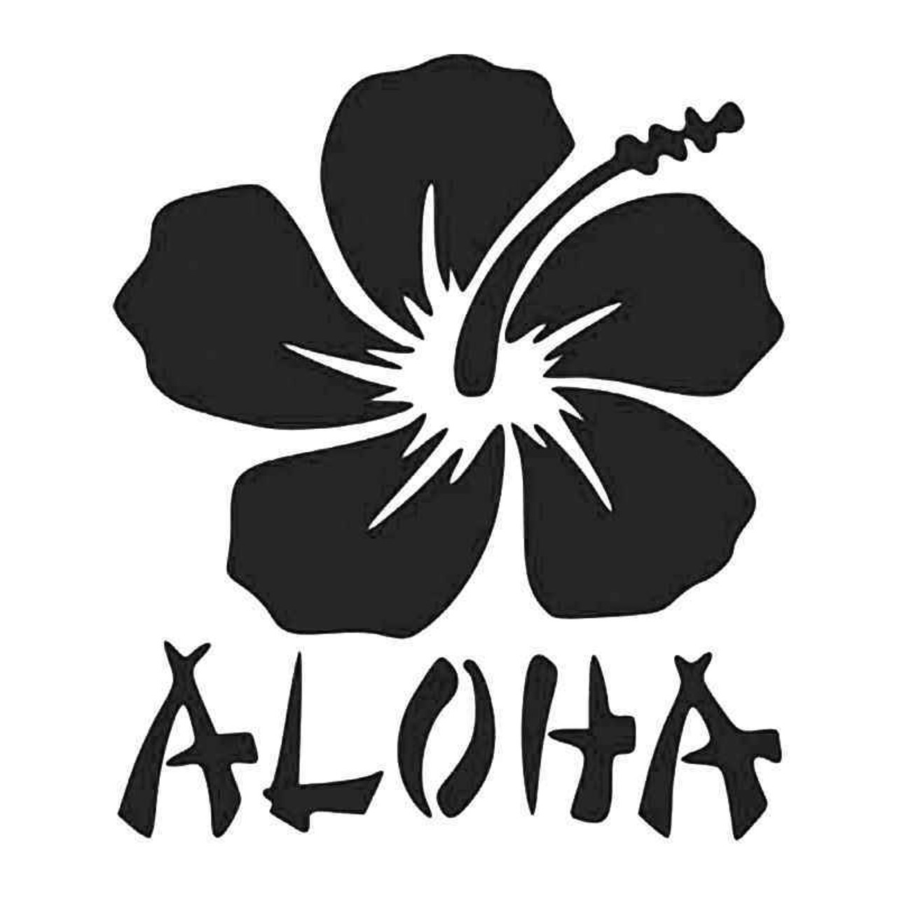 Hawaii Hibiscus Flower Sticker Aloha S8 all chrome and regular vinyl colors