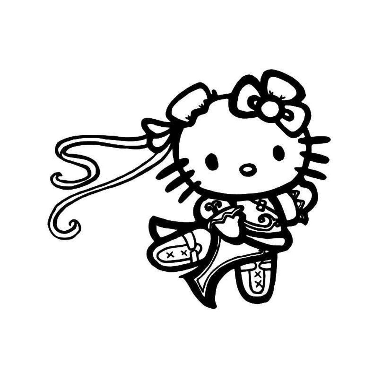 Hello Kitty Chun Li Street Fighter Vinyl Sticker