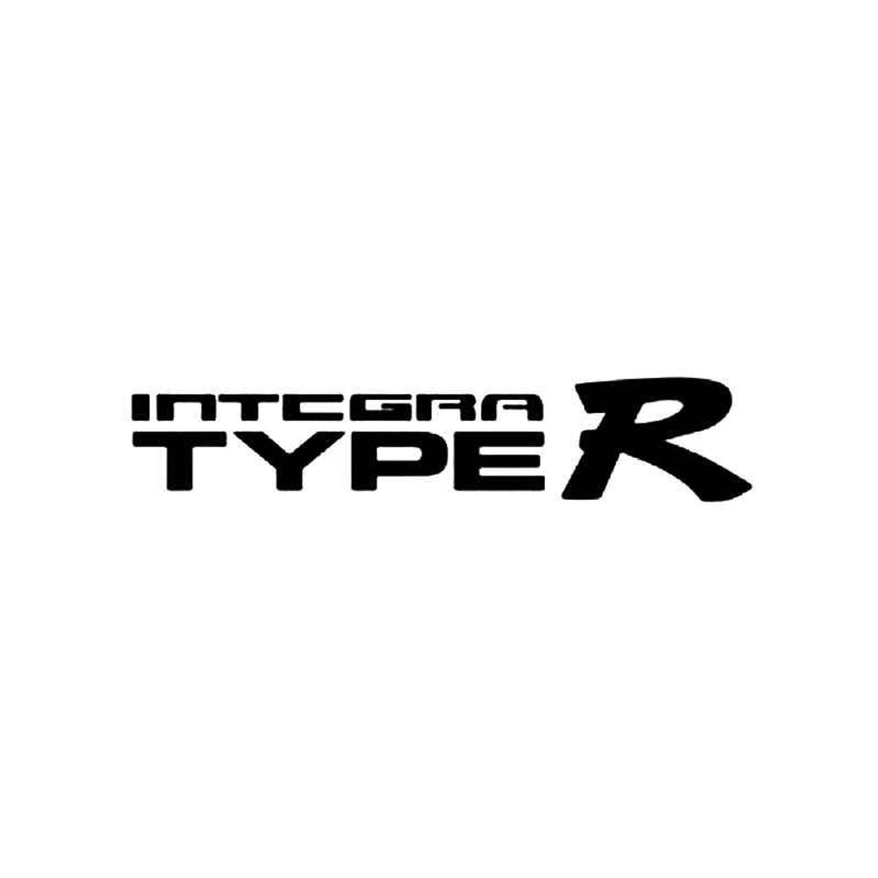 Integra type r vinyl sticker