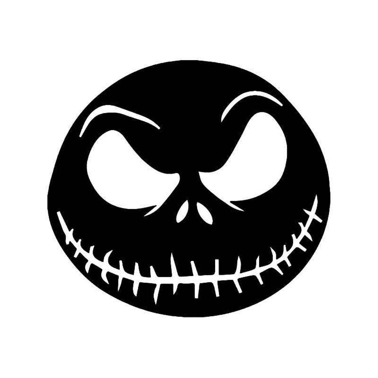 Jack Skellington Face Nightmare Christmas Vinyl Sticker