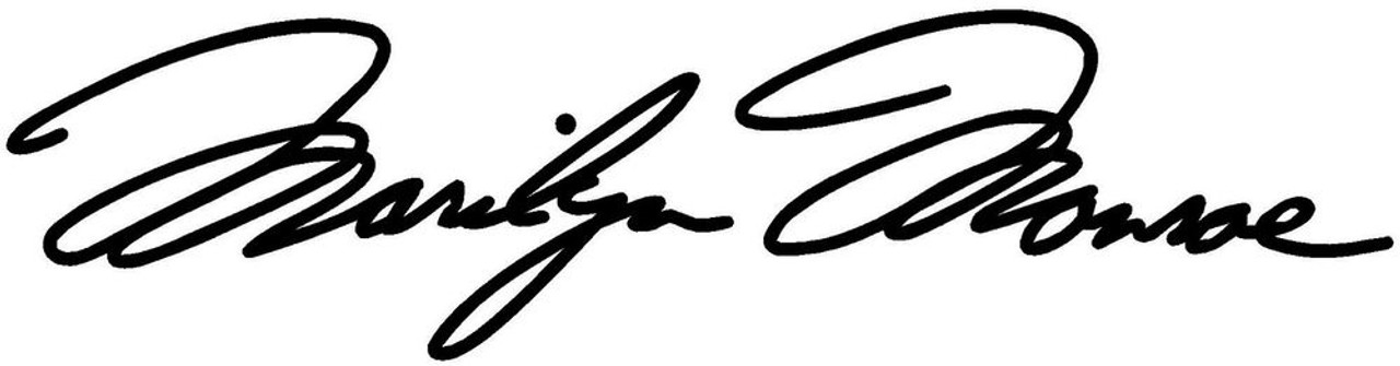 Marilyn Monroe Signature 2 Vinyl Sticker