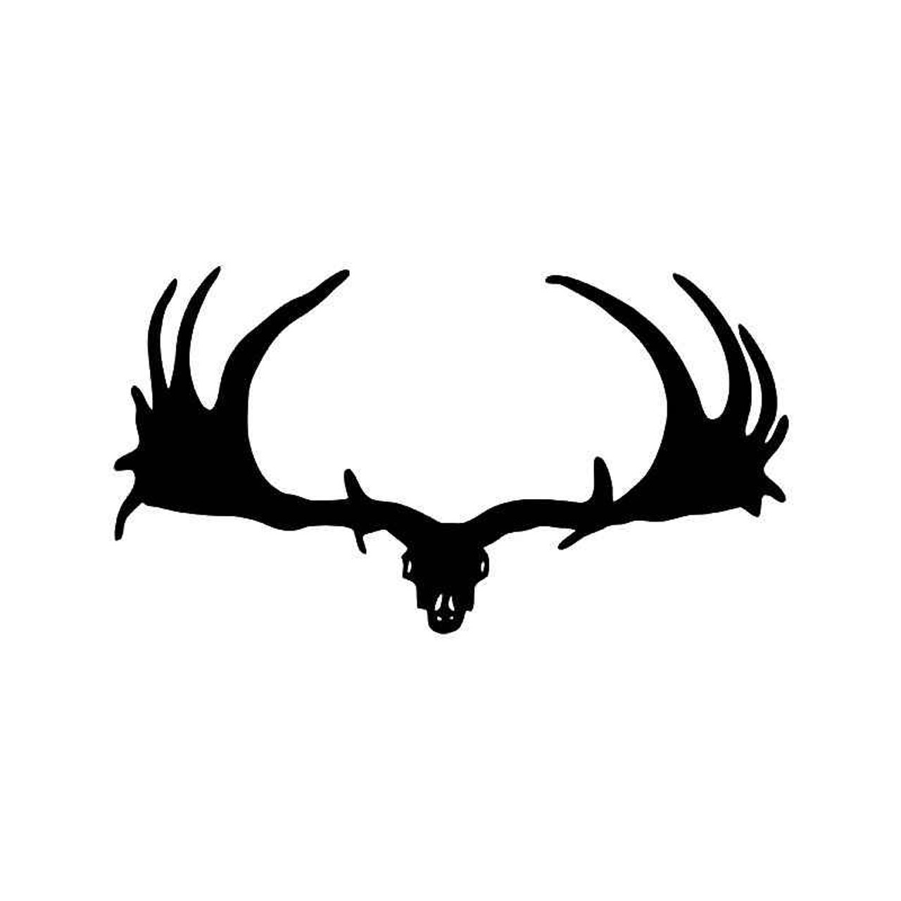 Moose Antlers Hunting Vinyl Sticker