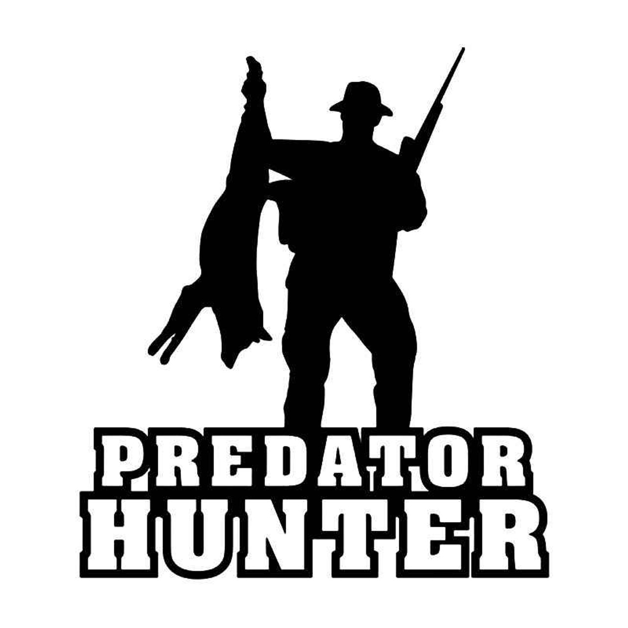 Predator hunter hunting vinyl sticker