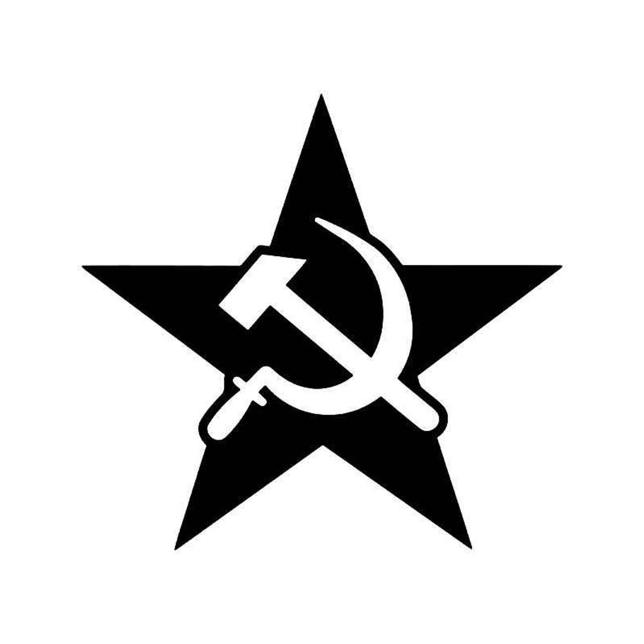 Russia Star Sickle Hammer Vinyl Sticker