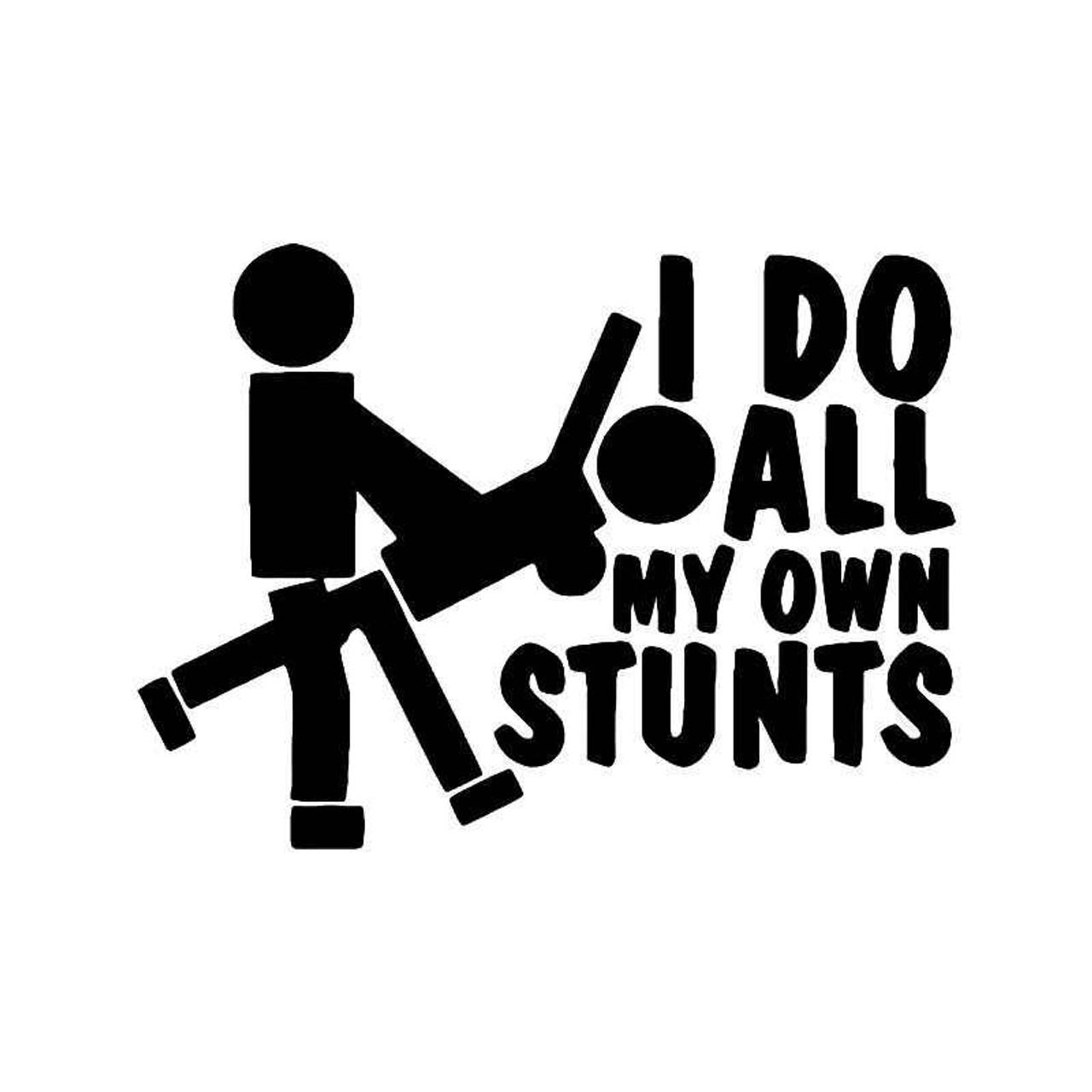 Stunts sex funny vinyl sticker