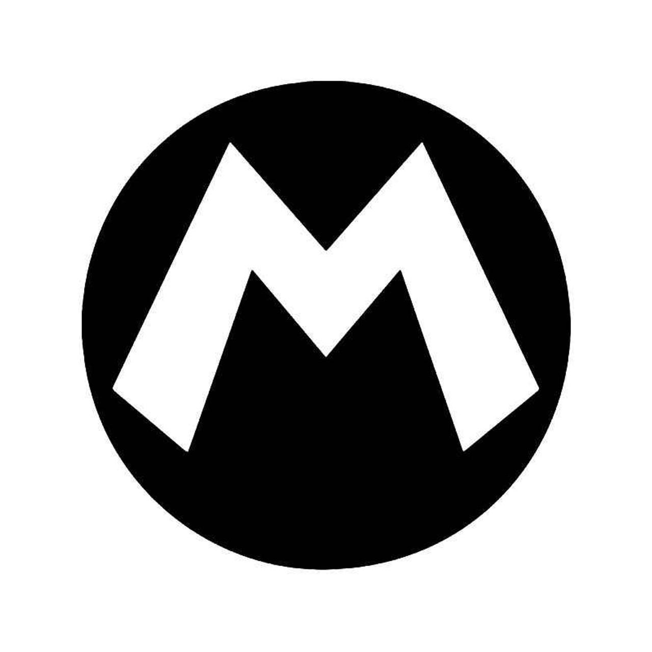 Super Mario M Gaming Vinyl Sticker
