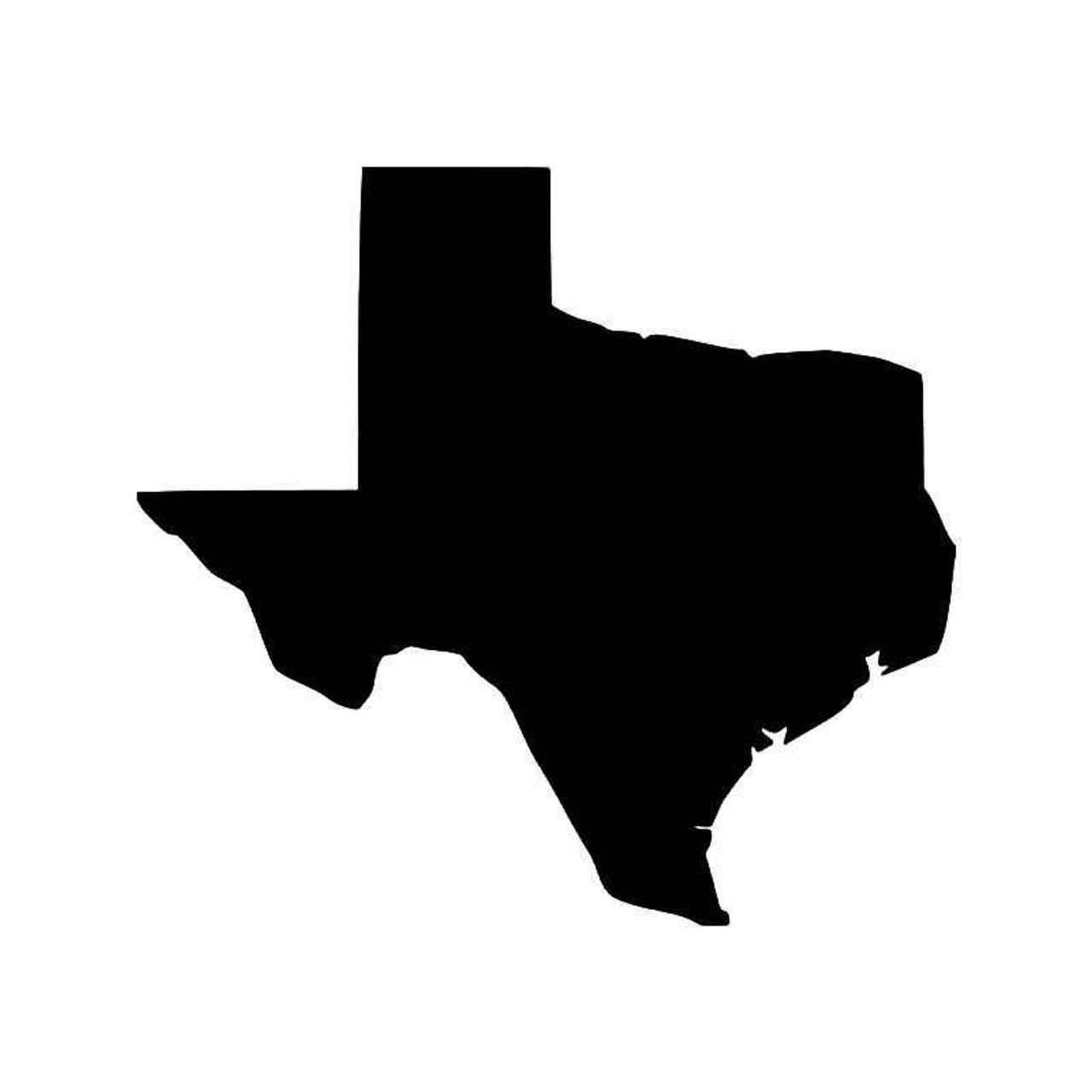 Silhouette Texas Texas State Map Vinyl Sticker