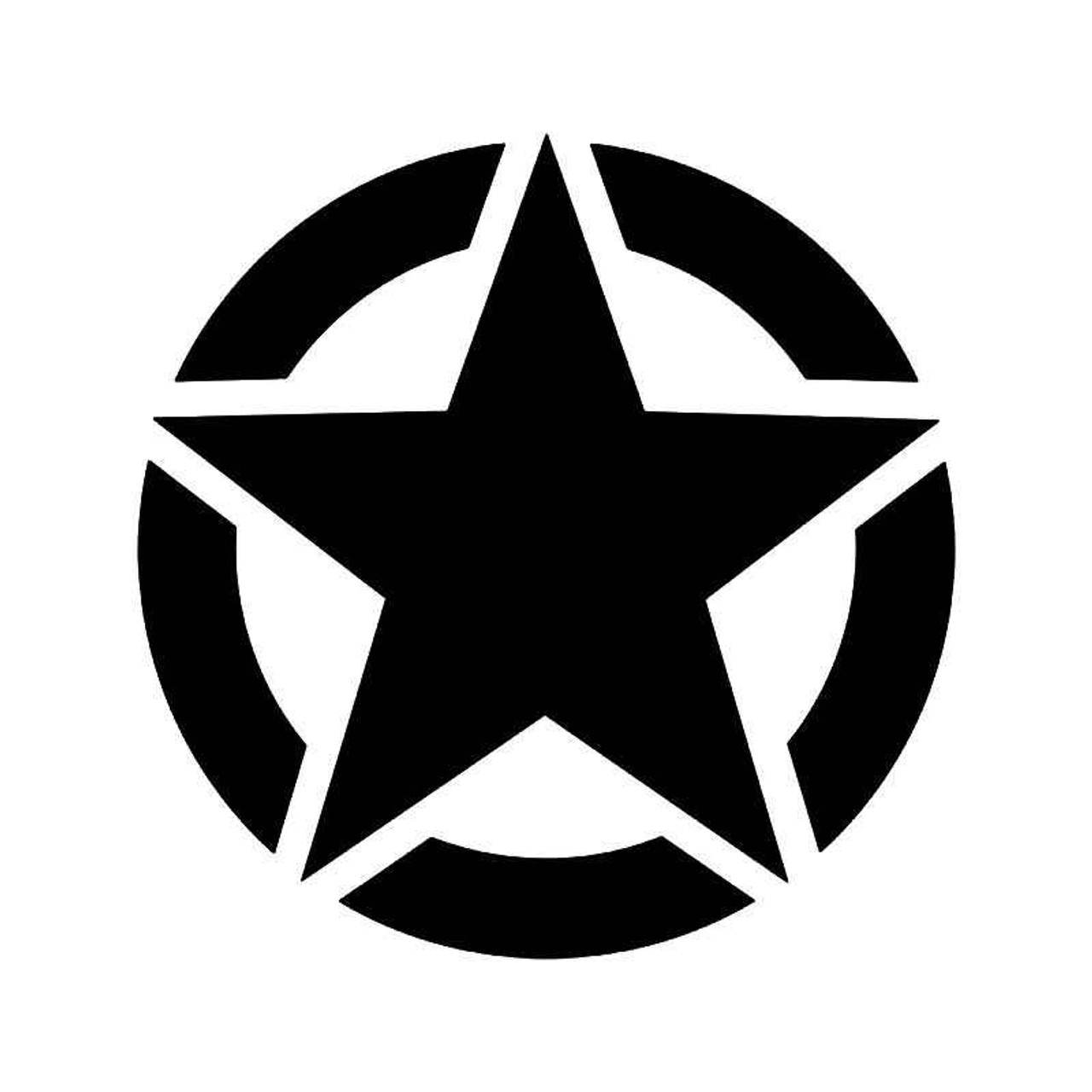 Us army military star ww2 vinyl sticker