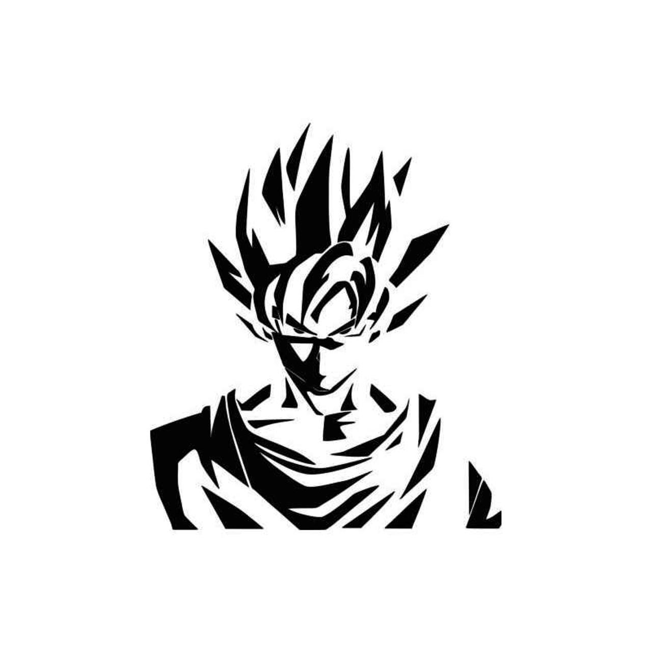 Dragon Ball Dragon Ball Z Kid Goku within Adult Goku Vinyl Sticker Decal CUSTOM