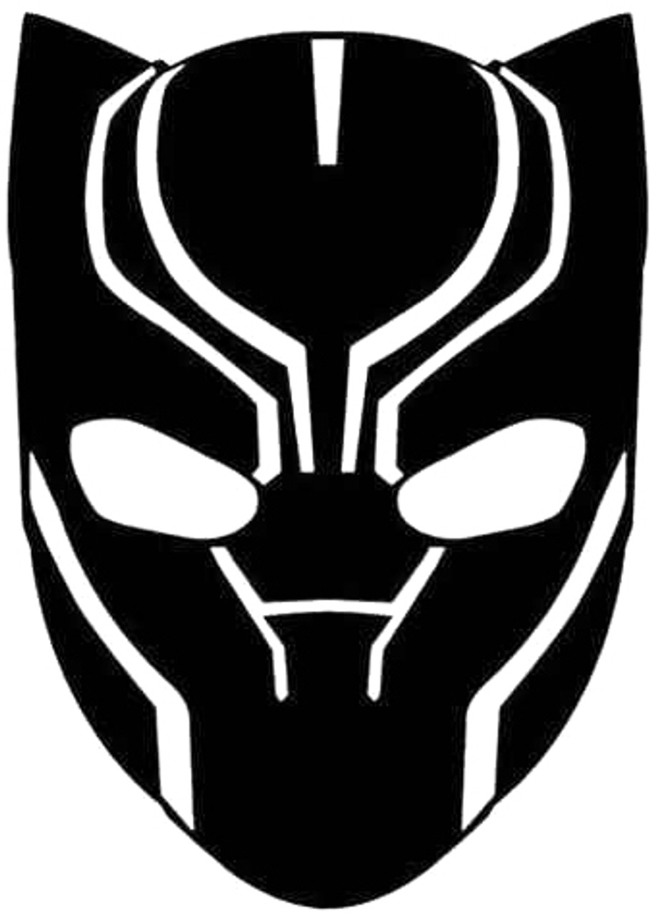 Avengers Black Panther Head Decal