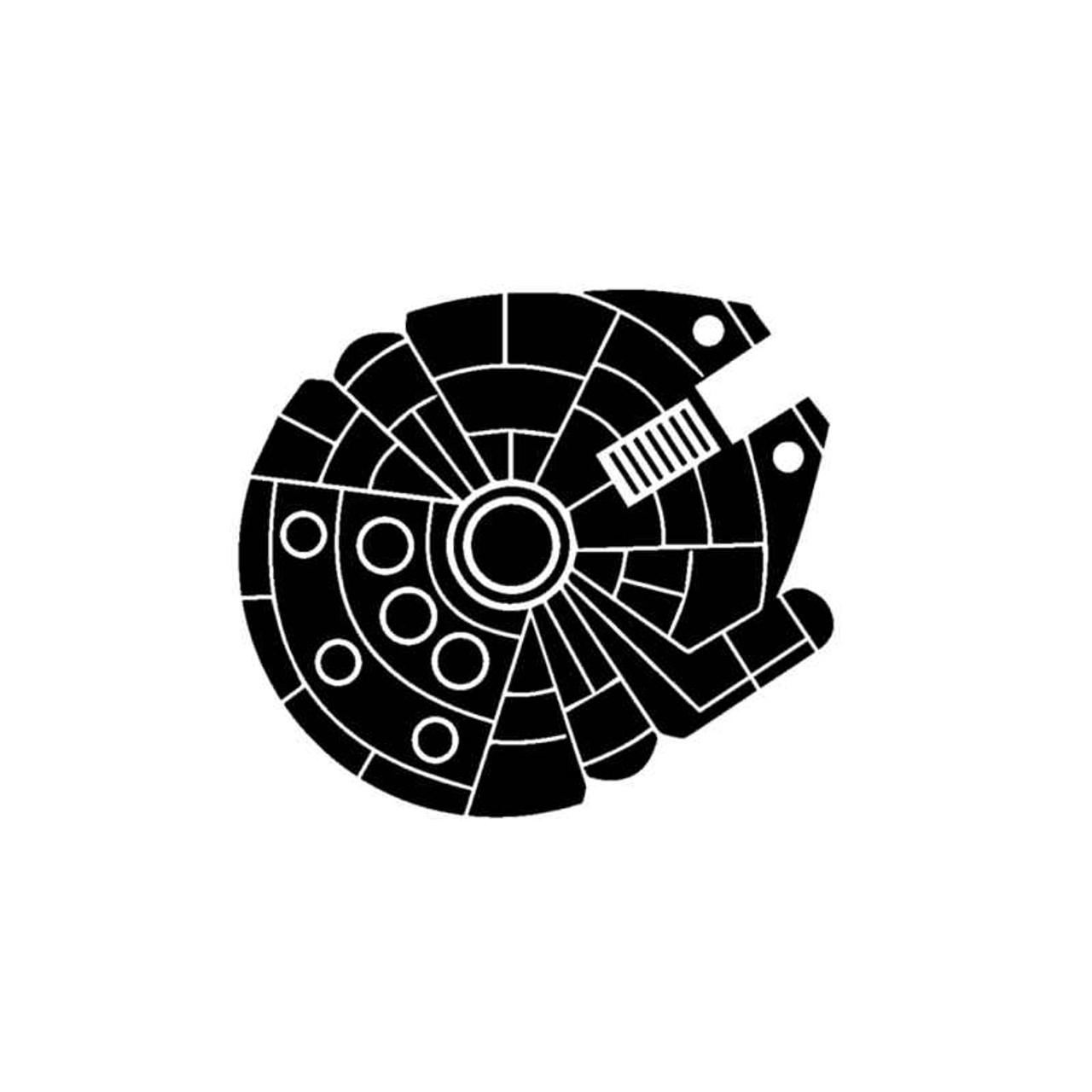 "6/"" Star Wars Milenium Falcon Decal Vinyl Sticker"