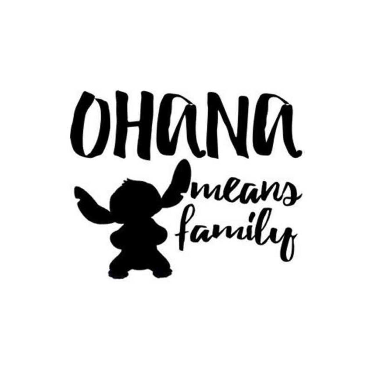 Lilo Stitch Ohana Quote Decal