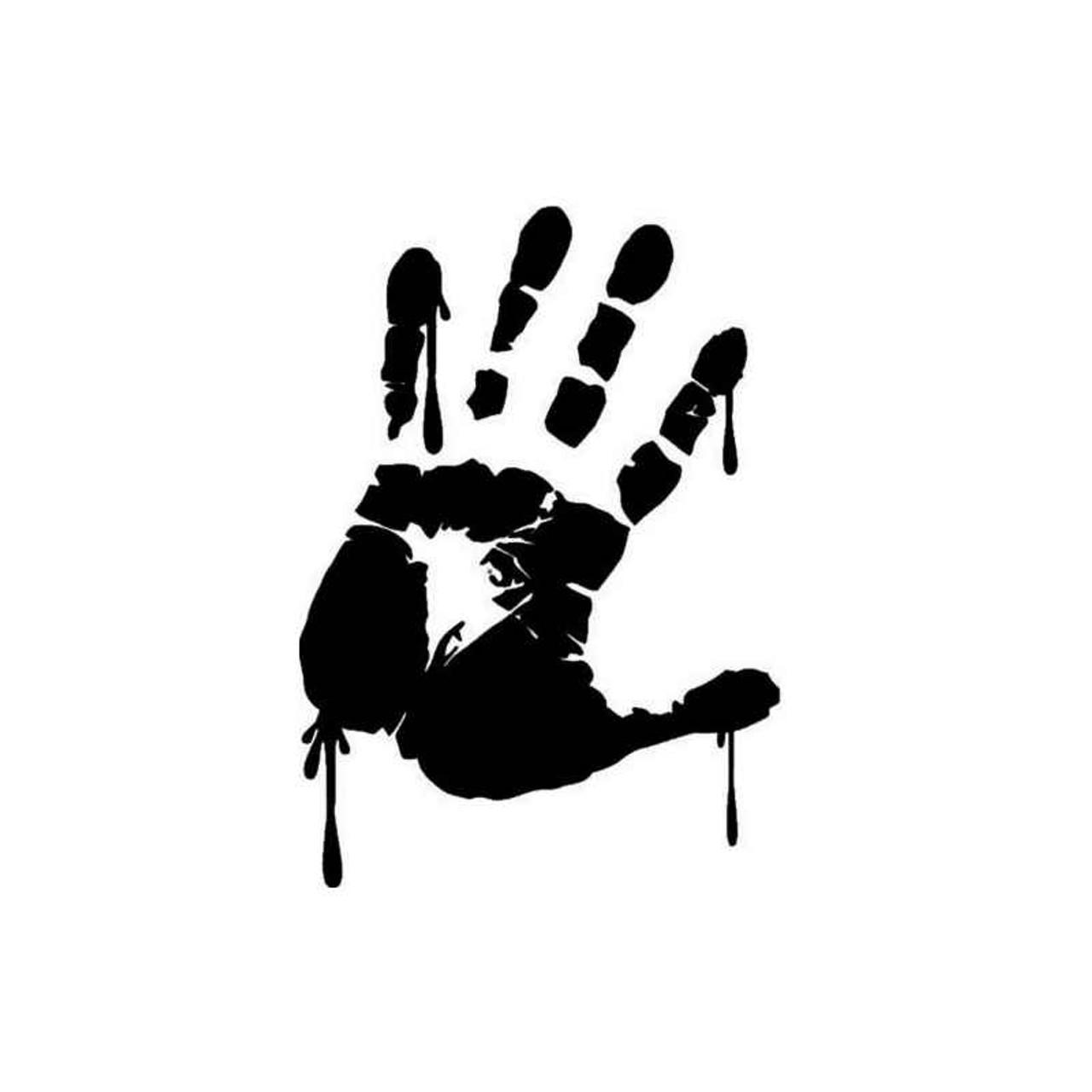 Vinyl Decal Truck Car Sticker Laptop Horror Movies Zombie Bloody Handprint