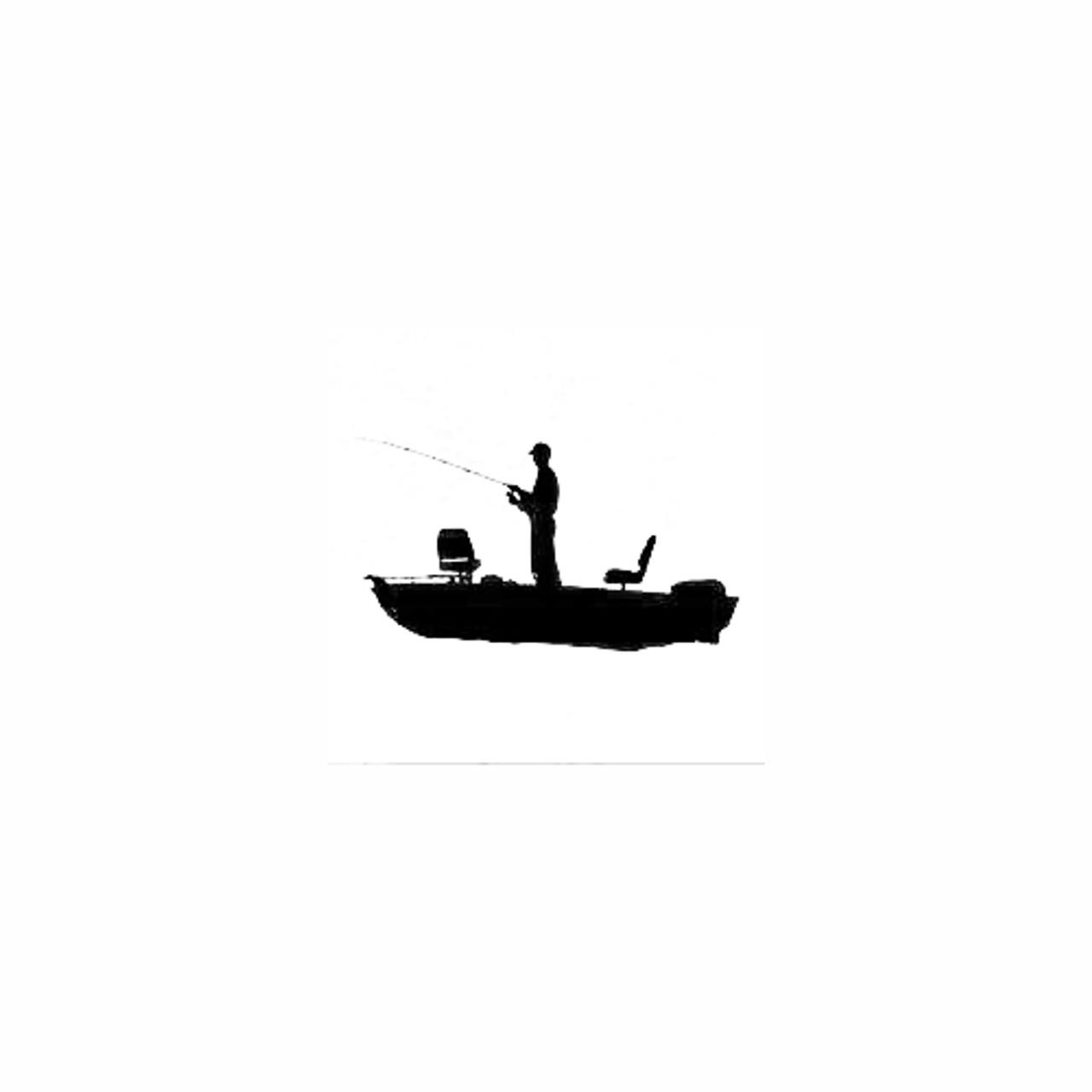 Man Boat Fishing Silhouette Vinyl Decal