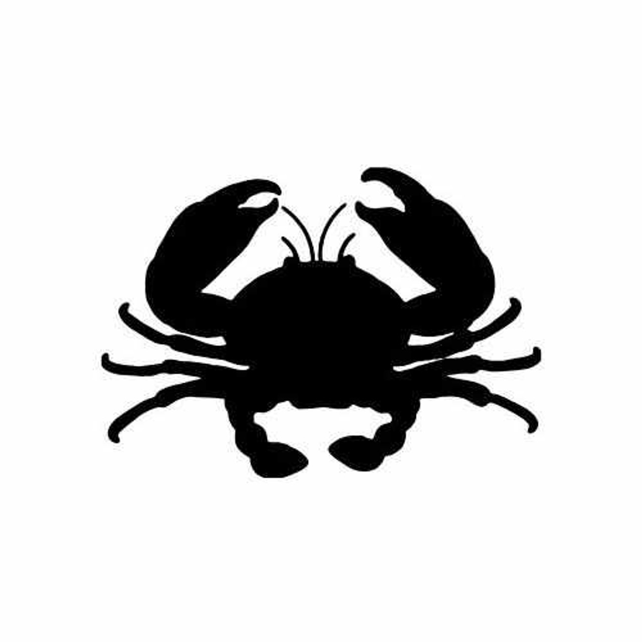 A crab decal or vinyl cut sticker that is glossy red.