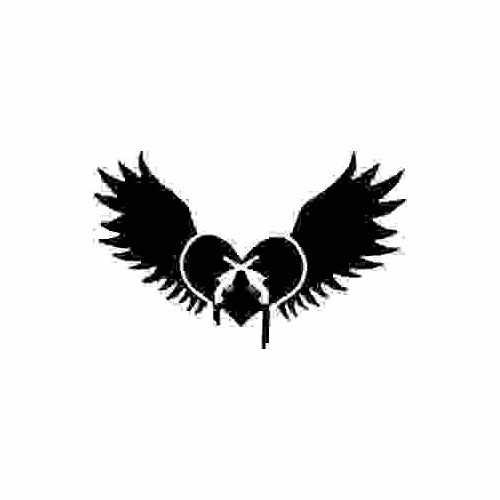 Heart Wing Pistols  Vinyl Decal Sticker  Size option will determine the size from the longest side Industry standard high performance calendared vinyl film Cut from Oracle 651 2.5 mil Outdoor durability is 7 years Glossy surface finish