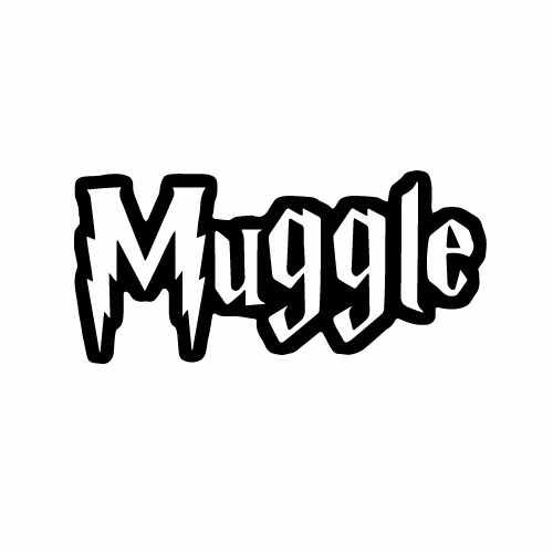 Harry Potter Muggle Vinyl Decal Sticker  Size option will determine the size from the longest side Industry standard high performance calendared vinyl film Cut from Oracle 651 2.5 mil Outdoor durability is 7 years Glossy surface finish