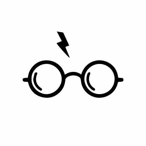 Harry Potter Glasses & Bolt Vinyl Decal Sticker  Size option will determine the size from the longest side Industry standard high performance calendared vinyl film Cut from Oracle 651 2.5 mil Outdoor durability is 7 years Glossy surface finish