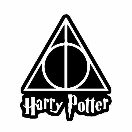 Harry Potter Deathly Hallows Vinyl Decal Sticker  Size option will determine the size from the longest side Industry standard high performance calendared vinyl film Cut from Oracle 651 2.5 mil Outdoor durability is 7 years Glossy surface finish