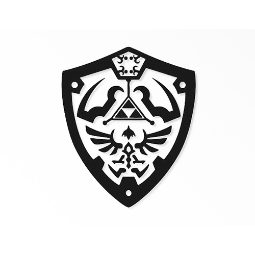 Legend of Zelda Shield        Vinyl Decal High glossy, premium 3 mill vinyl, with a life span of 5 - 7 years!