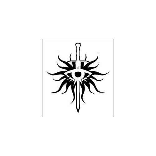 Dragon Age Inquisition       Vinyl Decal Sticker High glossy, premium 3 mill vinyl, with a life span of 5 - 7 years!