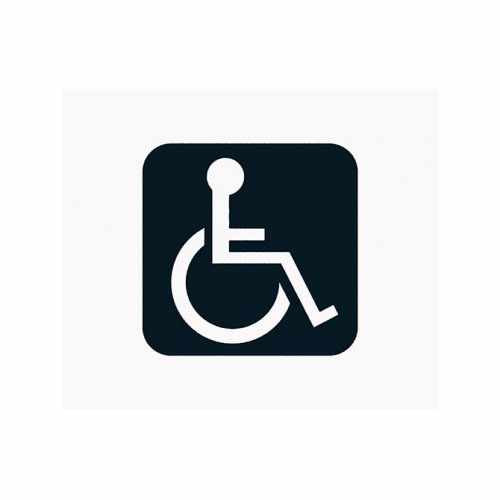 Handicap Wheelchair Sign  Vinyl Decal Sticker  Size option will determine the size from the longest side Industry standard high performance calendared vinyl film Cut from Oracle 651 2.5 mil Outdoor durability is 7 years Glossy surface finish
