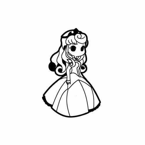 Hail To The Princess Aurora  Vinyl Decal Sticker  Size option will determine the size from the longest side Industry standard high performance calendared vinyl film Cut from Oracle 651 2.5 mil Outdoor durability is 7 years Glossy surface finish
