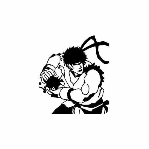 Hadouken Ryu Street Fighter  Vinyl Decal Sticker  Size option will determine the size from the longest side Industry standard high performance calendared vinyl film Cut from Oracle 651 2.5 mil Outdoor durability is 7 years Glossy surface finish