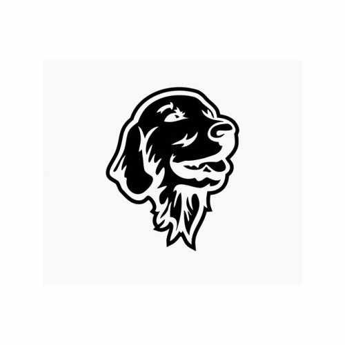 Golden Retriever Gentle Dog  Vinyl Decal Sticker  Size option will determine the size from the longest side Industry standard high performance calendared vinyl film Cut from Oracle 651 2.5 mil Outdoor durability is 7 years Glossy surface finish