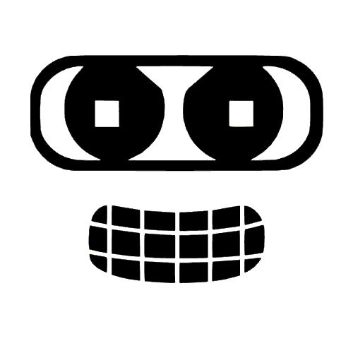 Bender Smiling Vinyl Decal High glossy, premium 3 mill vinyl, with a life span of 5 - 7 years!