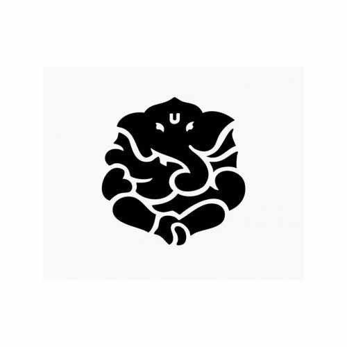 Ganesh Yoga Hindu  Vinyl Decal Sticker  Size option will determine the size from the longest side Industry standard high performance calendared vinyl film Cut from Oracle 651 2.5 mil Outdoor durability is 7 years Glossy surface finish