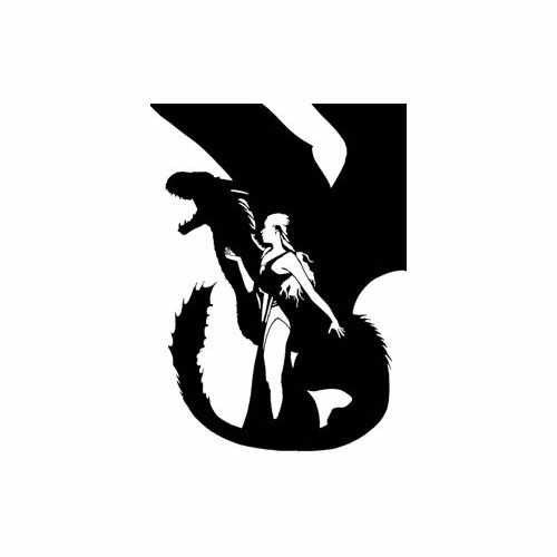 Game Of Thrones; Dragon Queen  Vinyl Decal Sticker  Size option will determine the size from the longest side Industry standard high performance calendared vinyl film Cut from Oracle 651 2.5 mil Outdoor durability is 7 years Glossy surface finish