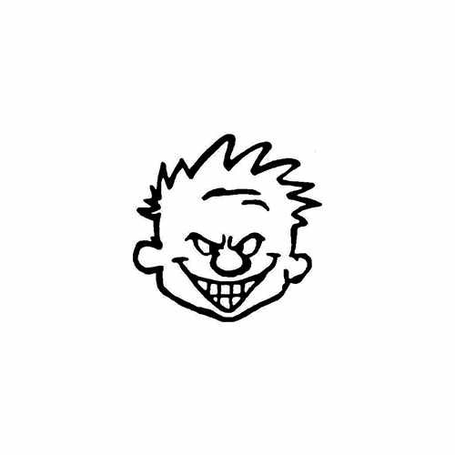 Calvin Head  Vinyl Decal High glossy, premium 3 mill vinyl, with a life span of 5 - 7 years!