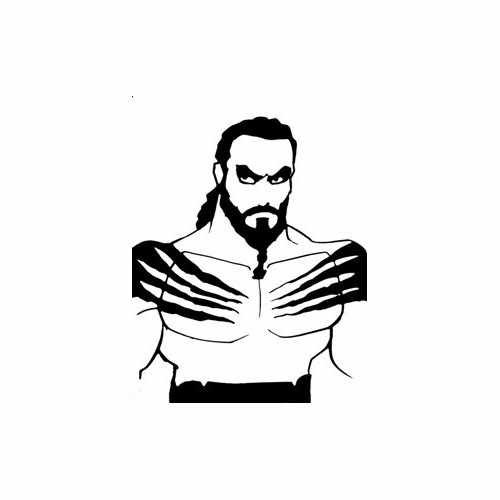 Game Of Thrones Khal Drogo  Vinyl Decal Sticker  Size option will determine the size from the longest side Industry standard high performance calendared vinyl film Cut from Oracle 651 2.5 mil Outdoor durability is 7 years Glossy surface finish