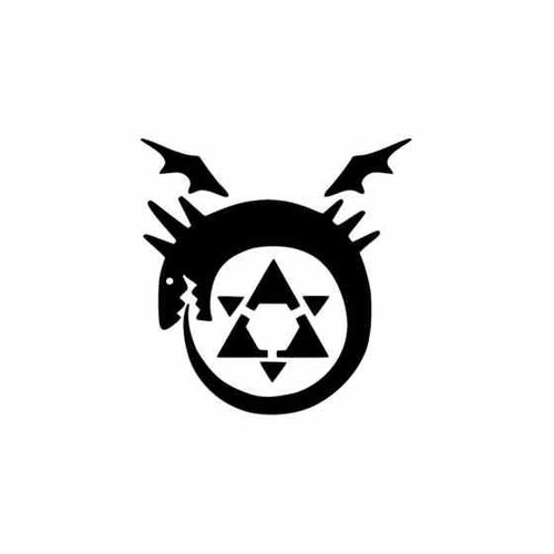 Full Metal Alchemist Vinyl Decal   2 High glossy, premium 3 mill vinyl, with a life span of 5 - 7 years!