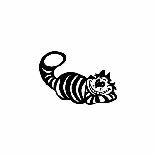 Cheshire Cat Vinyl Decal High glossy, premium 3 mill vinyl, with a life span of 5 - 7 years!