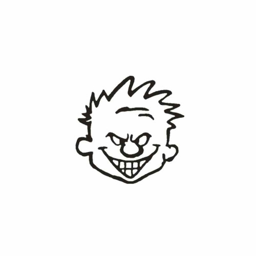 Calvin Vinyl Decal   1 High glossy, premium 3 mill vinyl, with a life span of 5 - 7 years!