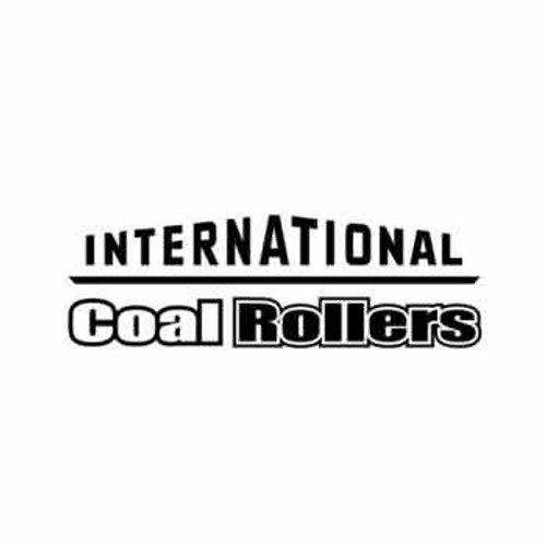 International Coal Rollers Text Decal High glossy, premium 3 mill vinyl, with a life span of 5 - 7 years!
