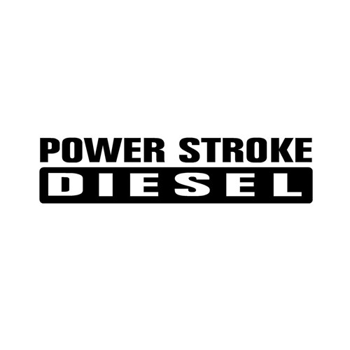 Power Stroke Diesel Text Logo Decal High glossy, premium 3 mill vinyl, with a life span of 5 - 7 years!