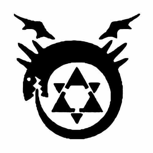 Full Metal Alchemist Blood Seal Vinyl Decal Sticker  Size option will determine the size from the longest side Industry standard high performance calendared vinyl film Cut from Oracle 651 2.5 mil Outdoor durability is 7 years Glossy surface finish