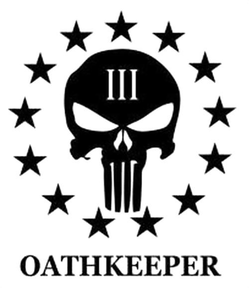Punisher Skull 3 Percenter Oathkeeper
