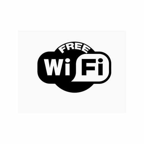 Free Wifi  Vinyl Decal Sticker  Size option will determine the size from the longest side Industry standard high performance calendared vinyl film Cut from Oracle 651 2.5 mil Outdoor durability is 7 years Glossy surface finish