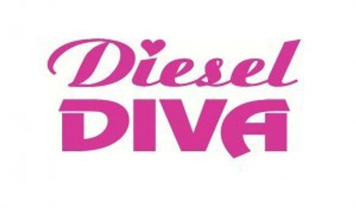 Diesel Diva Diesel  Decal High glossy, premium 3 mill vinyl, with a life span of 5 - 7 years!