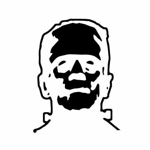 Frankenstein (Outline) Vinyl Decal Sticker  Size option will determine the size from the longest side Industry standard high performance calendared vinyl film Cut from Oracle 651 2.5 mil Outdoor durability is 7 years Glossy surface finish