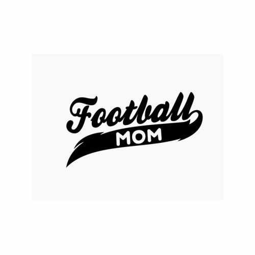Football Mom  Vinyl Decal Sticker  Size option will determine the size from the longest side Industry standard high performance calendared vinyl film Cut from Oracle 651 2.5 mil Outdoor durability is 7 years Glossy surface finish