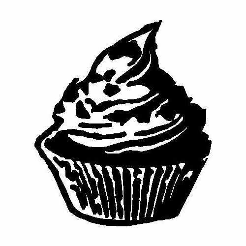 Food Cupcake  Vinyl Decal Sticker  Size option will determine the size from the longest side Industry standard high performance calendared vinyl film Cut from Oracle 651 2.5 mil Outdoor durability is 7 years Glossy surface finish