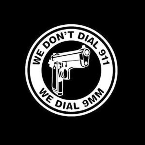 Dont Dial 911 Dial 9mm  Decal High glossy, premium 3 mill vinyl, with a life span of 5 - 7 years!