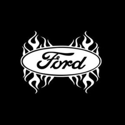 Ford Flames flaming  Decal High glossy, premium 3 mill vinyl, with a life span of 5 - 7 years!